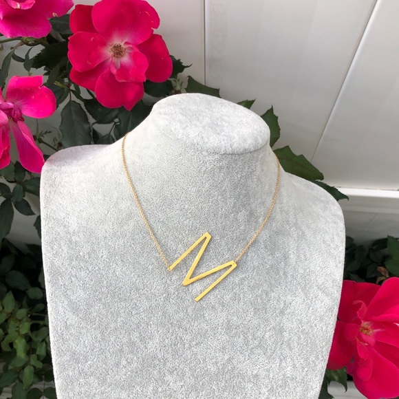"""""""M"""" Initial Coker Necklace"""